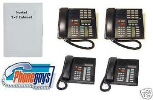 Small 2 4 Line Used Nortel 3x8 Business Phone System