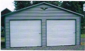Two Car Metal Garage 24x21x8 All steel Carport Free Delivery And Installation