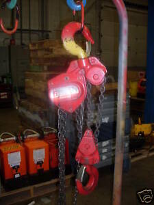 Coffing Lhh 5 Ton Chain Fall Great Condition 10 Lift