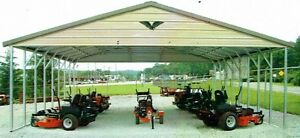 30x26x8 Triple wide Steel Carport Vertical Roof Free Installation Nation wide