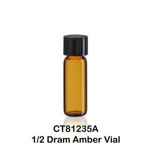 100 Small 1 2 Dram Amber Glass Vials W Caps 12 X 35 Mm 1 16 Oz 1 9 Ml