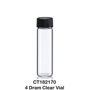 50 Clear Glass Vials W Screw Caps 1 2 Oz 4 Dram 15 Ml 21 X 70 Mm