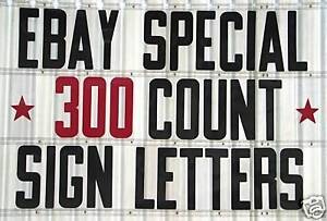 8 On 8 7 8 Plastic Sign Letters Numbers 300 Pc Set