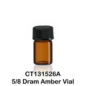 100 Amber Glass Vials W Screw Caps 15 X 26 Mm 5 8 Dram 1 12 Ounce 2 3 Ml 1