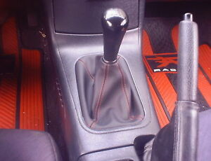 Type r Shift Boot Honda Civic Acura Integra Black W red