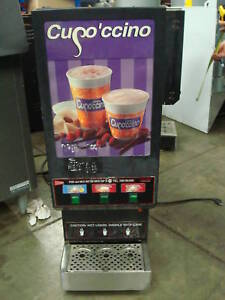 Cappuccino Machine 3 Head Powder Dispenser Used