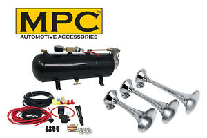 Train Horn Kit Triple Horns For Car Or Truck With 110 Psi Air System