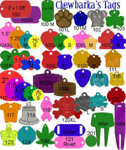 500 Bulk Wholesale Engraving Machine Pet Id Tags Gi Dog Tag Blank Anodized 1usa