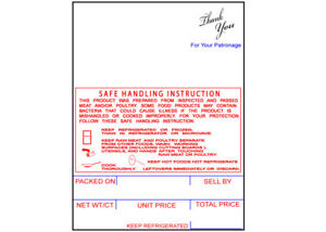 Hobart Shi Style K Sp 80 sp 1500 Grocery Labels