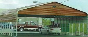 Triple wide Steel Carport Cover 30 X 31 Free Installation Nationwide
