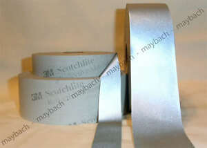 3 Yd 3m Silver Reflective Tape Fabric Motorcycle 6 Inch