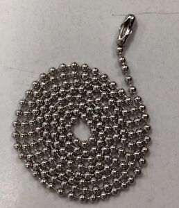 500 Ball Chains Nickel 4 5 Inch 3 Dog Tag Bead Chain