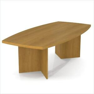 Boat Shaped Light Board Top Conference Table
