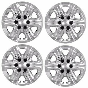 New 2009 2014 Chevy Traverse 17 Bolt on Chrome Hubcaps Wheelcover Set Of 4