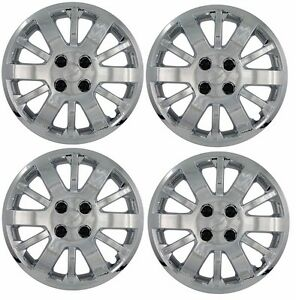 New 2009 2010 Chevy Cobalt 15 Bolt on Hubcap Wheelcover Set Chrome