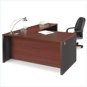 Single Pedestal Reversible Laminate L shape Desk