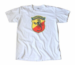 Vintage Abarth Italian Racing Decal T shirt Vw Porsche Fiat Alfa Bmw