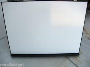 Used Metallic Dry Erase White Board 4 x3 W marker Tray