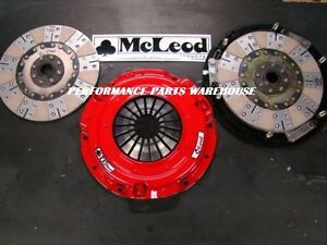 Mcleod Rxt Twin Disc Clutch 1000 hp 79 95 Mustang 5 0 96 00 4 6 26 spline