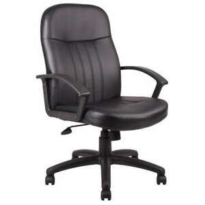 Black Leather Executive Home Office Desk Computer Chair
