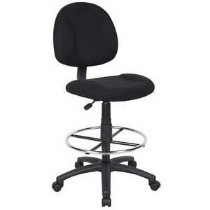 Black Medical Drafting Office Chair Stool W footring