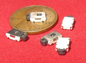 5 Pc Small Smd Momentary Tactile Switches Push Button No Spst Click On Tiny Mv