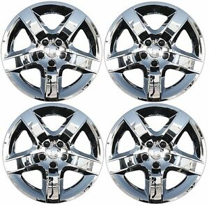 New 2008 2012 Chevy Malibu 17 5 Spoke Chrome Hubcap Wheelcover Set Of 4