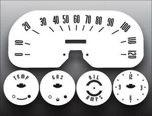 1957 1958 Plymouth Belvedere White Face Gauges 57 58