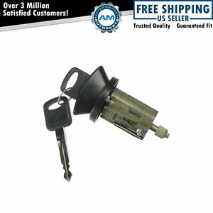 Black Bezel Ignition Lock Cylinder With Key For Ford Mercury Lincoln Pickup Truck