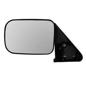 Black Manual Side View Mirror Driver Left Lh For 94 97 Dodge Ram Pickup Truck