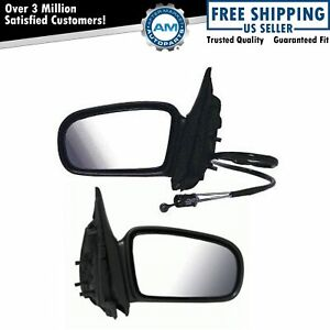 Folding Manual Remote Side View Mirrors Lh Rh Pair Set Of 2 For Malibu Cutlass