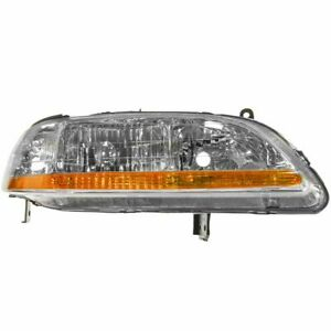 Headlight Headlamp Passenger Side Right Rh New For 01 02 Honda Accord
