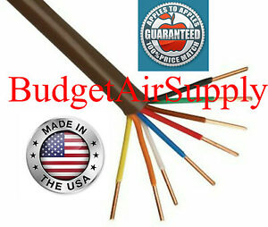 Thermostat Wire 18 8 X 30ft 18 Gauge 8 Wire Conductor 18 8 Made In Usa