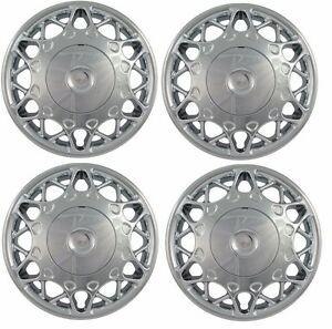 1997 2005 Buick Century 15 Chrome Hubcap Center Wheelcover Set 2 Pc Bolt On New
