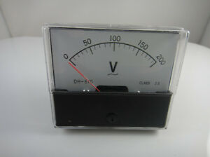 Analog Volt Voltage Voltmeter Panel Meter Ac 0 200v