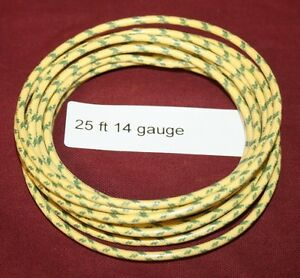 25 Ft 14 Ga Primary Yellow Wire Hit Miss Gas Engine Motor Buzz Coil