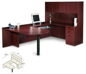 American Mahogany Laminate U shape Executive Office Furniture Desk