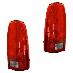 Taillights Brake Lights Left Right Pair Set Of 2 For Chevy Gmc C k Suburban