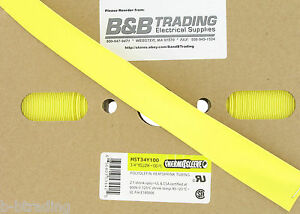 100 Ft Roll 3 4 Id 20mm Thermosleeve Yellow Polyolefin 2 1 Heat Shrink Tubing