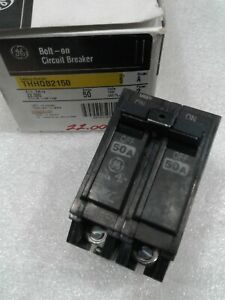 Thhqb2150 General Electric Circuit Breaker 2 Pole 50 Amp 240 Vac New