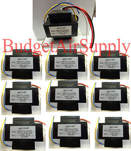 Lot 10 Ea Universal 24 Volt Transformer 120 208 240 40 Va 60hz 40310f Hvac