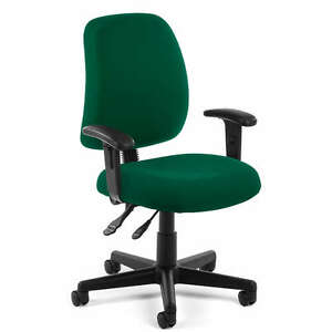 Green Fabric Ergonomic Posture Task Office Desk Chair With Arms