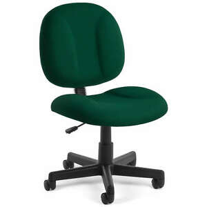 Green Armless Highly Comfortable Task Office Desk Chair