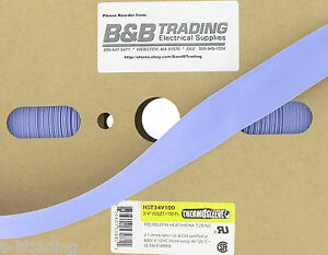 100 Ft Roll 3 4 Id 20mm Thermosleeve Violet Polyolefin 2 1 Heat Shrink Tubing