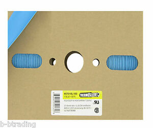 100 Ft Roll 3 4 Id 20mm Thermosleeve Blue Polyolefin 2 1 Heat Shrink Tubing