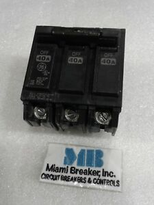 Ge General Electric Thql32040 New Circuit Breaker 3 Pole 40 Amp 240 Vac