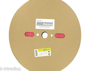 100 Ft Roll 1 Id 25mm Thermosleeve Red Polyolefin 2 1 Heat Shrink Tubing