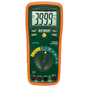 Extech Ex430 True rms Autoranging Multimeter With K type Capacitance Frequency
