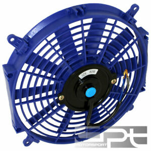 16 Blue Slim Electric Reversible Radiator Cooling Fan