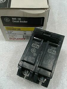 Thhqb2130 General Electric Circuit Breaker 2 Pole 30 Amp 240 Vac New